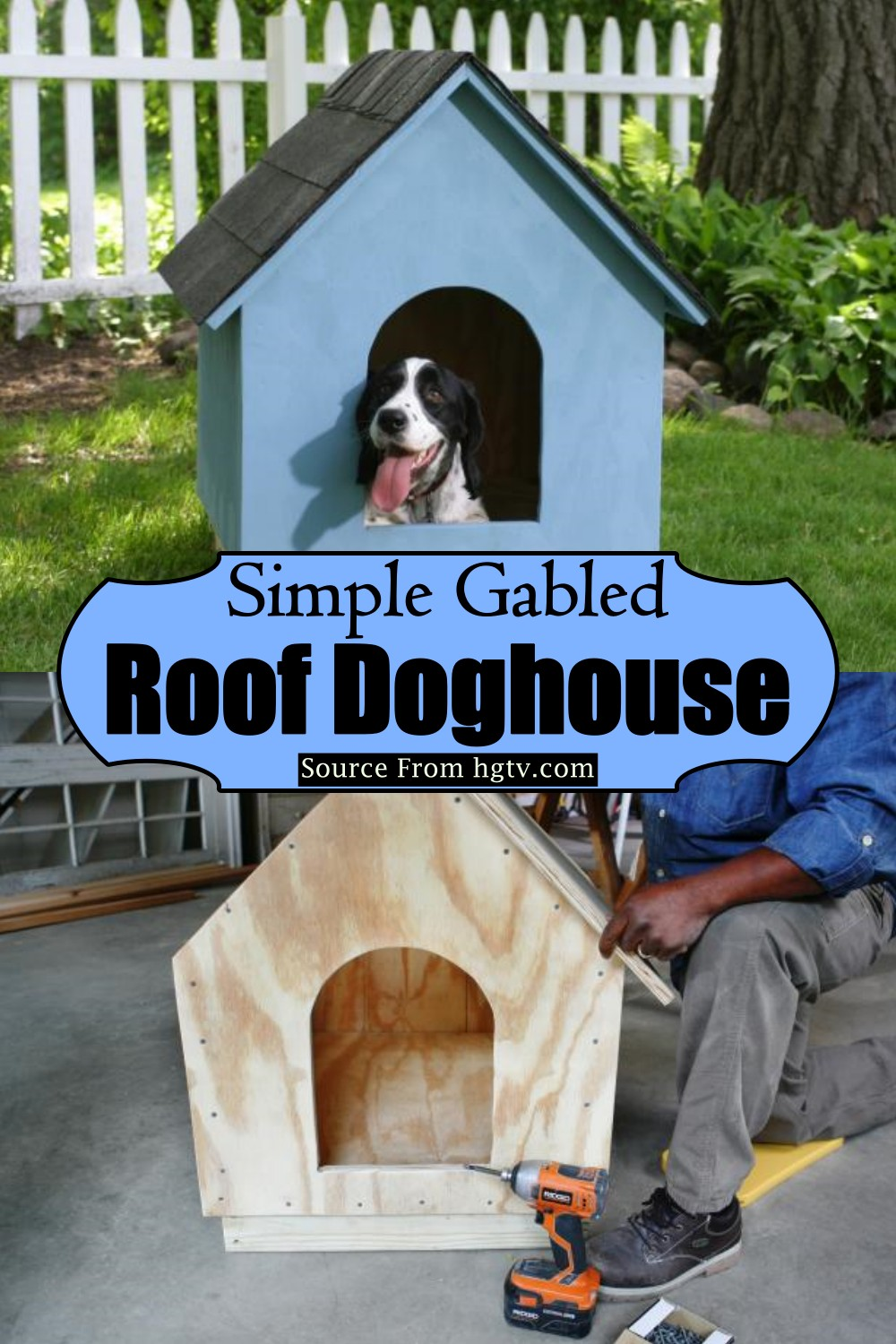Simple Gabled Roof Doghouse