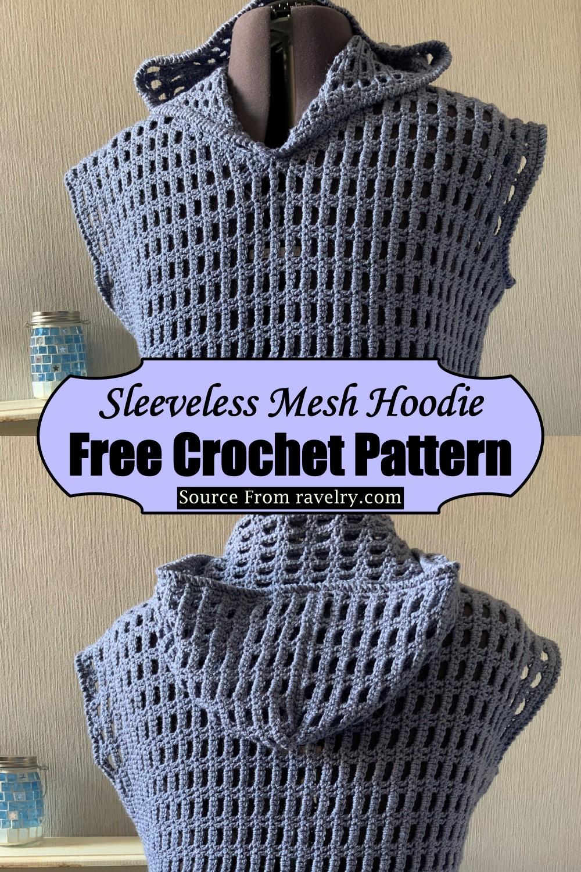 Sleeveless Mesh Hoodie Crochet Pattern