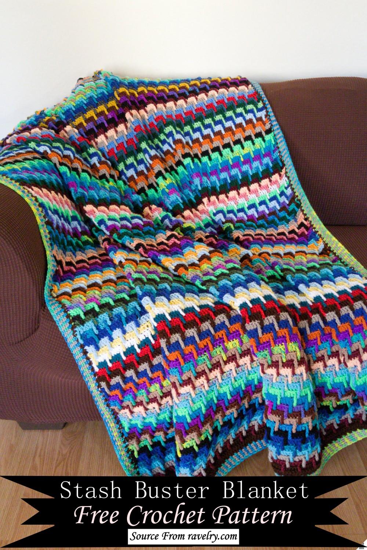 Stash Buster Blanket Crochet Pattern